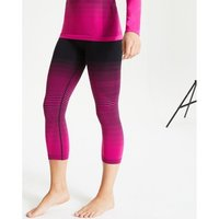 Dare 2b  In The Zone Performance Base Layer 3/4 Leggings Pink  women's Tights in Pink