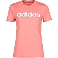 adidas  W LIN T  women's T shirt in Pink