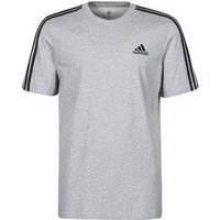 adidas  M 3S SJ T  men's T shirt in Grey