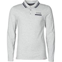 Guess  LIVE IS POLO  men's Polo shirt in Grey