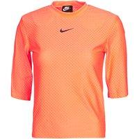 Nike  NSICN CLSH TOP SS MESH  women's T shirt in Orange