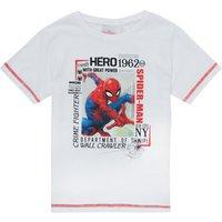 TEAM HEROES   SPIDERMAN TEE  boys's Children's T shirt in White