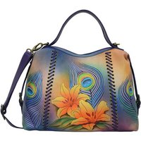 Anuschka  631 Peacock Lily -Hand Painted Leather  womens Shoulder Bag in Multicolour