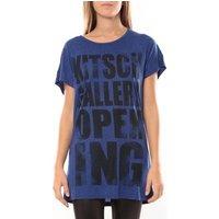 Vero Moda  Gallery ss long Top 10098464 Bleu/Noir  womens Tunic dress in Blue