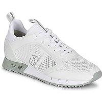 Emporio Armani EA7  BLACK WHITE LACES  women's Shoes (Trainers) in White
