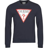 Guess  AUDLEY CN FLEECE  men's Sweatshirt in Blue