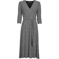 Lauren Ralph Lauren  CARLYNA-3/4 SLEEVE-DAY DRESS  women's Long Dress in Black