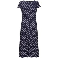 Lauren Ralph Lauren  PIPPA-CAP SLEEVE-DAY DRESS  women's Long Dress in Blue