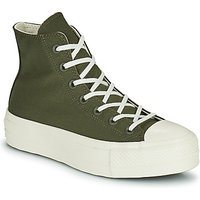Converse  CHUCK TAYLOR ALL STAR LIFT HYBRID TEXTURE HI  women's Shoes (High-top Trainers) in Kaki