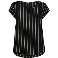 Only  Haut femme  Vic manches courtes  womens Blouse in Black