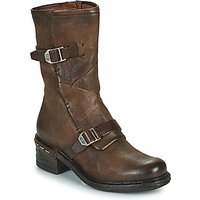 Airstep / A.S.98  NOVASUPER BUCKLE  women's Low Ankle Boots in Brown