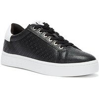 Calvin Klein Jeans  Logo Cupsole Womens Black Trainers  women's Shoes (Trainers) in Black
