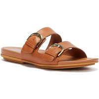 FitFlop-Gracie-Buckle-Leather-Womens-Light-Tan-Slides-womens-Mules-Casual-Shoes-in-Brown