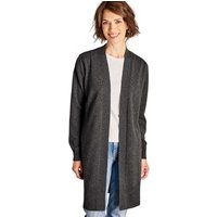 Woolovers  Cashmere and Merino Edge to Edge Long Cardigan Dark Charcoal  women's  in Brown