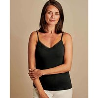 Woolovers  Lace Cami Black  women's Vest top in Black