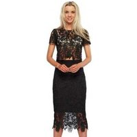 Abyss  Bunny Set Black Lace Pencil Skirt  amp; Cropped Top  womens Dress in Black