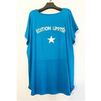 Fashion brands  V132ED-TURQUOISE  women's Blouse in Blue