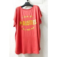 Fashion brands  V-132P-RUST  women's Blouse in Red