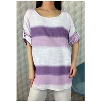 Fashion brands  156485V-LILAC  women's Blouse in Purple