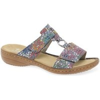 Rieker  Festival Womens Casual Mules  women's Mules / Casual Shoes in Blue