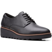 Clarks  Sharon Noel Womens Lace Up Low Wedges  women's Casual Shoes in Black