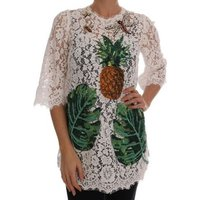 D G  White Crystal  womens Blouse in multicolour