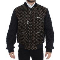 D G  Black Sequined  mens Jacket in multicolour