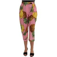 D G  Multicolor Pin  womens Cropped trousers in multicolour