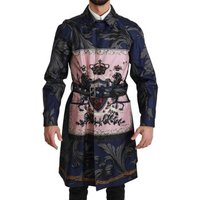 D G  Blue Royal Cro  mens Trench Coat in multicolour