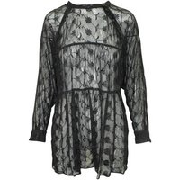 Reformation  Embroidered Oversi  womens Dress in Black