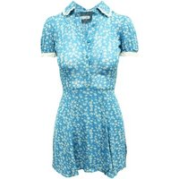 Reformation  Blue Print Short S  womens Dress in Blue