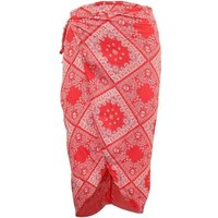 Reformation  Red Print Wrap Ski  womens Skirt in multicolour