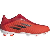 adidas  Chaussures enfant  X Speedflow.3  Laceless FG  boys's Children's Football Boots in Red