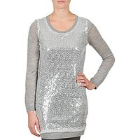 La City  PULL SEQUINS  womens Tunic dress in Silver