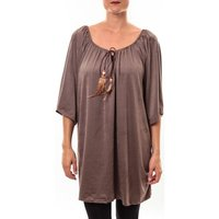 Nina Rocca  Tunique Emilie taupe  womens Tunic dress in Brown