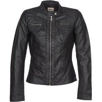 Only Bandit Leather Jacket In Black
