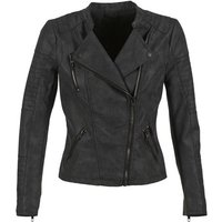 Only Ava Leather Jacket In Black