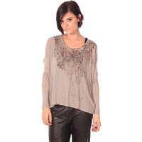 Rich   Royal  Rich Royal Tunique Magela Taupe  womens Tunic dress in Brown