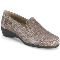 Calzamedi  orthopedic taupe moccasin  womens Loafers / Casual Shoes in Brown