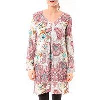 Dress Code  Robe Moda H G-0080-3 Blanc/Rose  womens Tunic dress in Pink