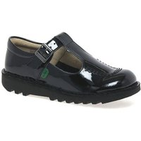 Kickers  Kick T Patent Leather Girls Junior School Shoes  girlss Childrens Shoes (Pumps / Ballerinas) in Black