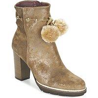 Fericelli  FAHRA  women's Low Ankle Boots in Beige
