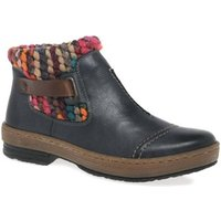 Rieker  Rambler Womens Knit Panel Ankle Boots  women's Mid Boots in Blue