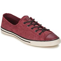 Converse All Star Fancy Leather Ox Shoes (trainers) In Red