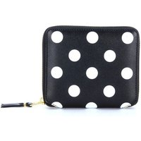 Comme Des Garcons  in black leather and polka dots  men's Coin purse in Black