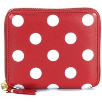 Comme Des Garcons  Comme Des Garçons red leather and white polka dots wallet  womens Purse in Red