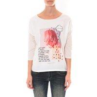 Coquelicot  Tee shirt   Blanc 16425  women's  in White