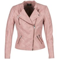 Only Ava Leather Jacket In Pink