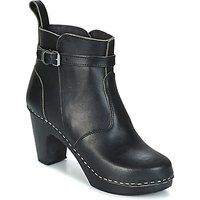 Swedish hasbeens  HIGH HEELED JODHPUR  womens Low Ankle Boots in Black