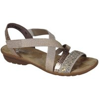 Rieker  Copper Womens Casual Sandals  womens Sandals in Gold